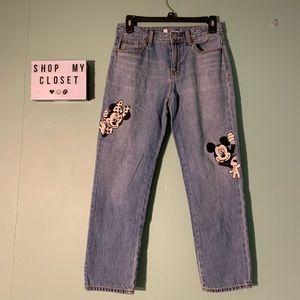 GAP Disney Kids Mickey/Minnie Mouse Jeans Size 14